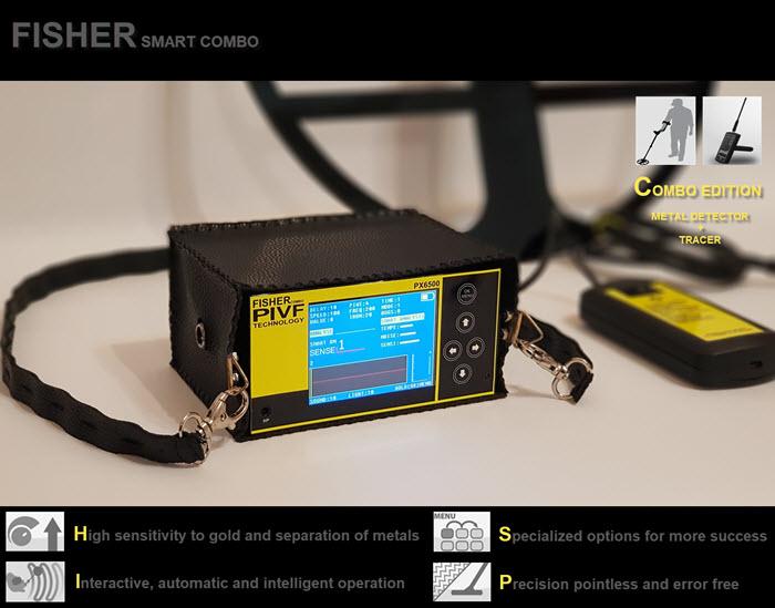 فلزیاب ردیاب طلایاب قدرتمند ارزان قیمت fisher smart combo مولتی فلزیاب هوشمند FISHER SMART COMBO